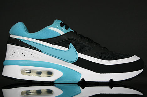 nike air max classic bw – black / light blue