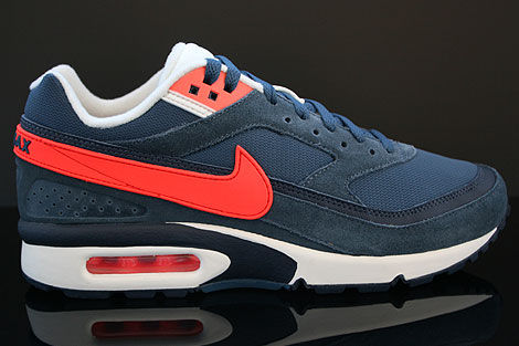 Nike Air Classic BW Textile Dunkelblau Rot Creme Schwarz
