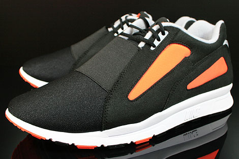 Nike Air Current Black Wolf Grey Total Orange Sidedetails