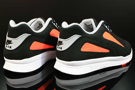 Nike Air Current Black Wolf Grey Total Orange Back view