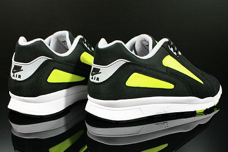 Nike Air Current Schwarz Grau Gelb Rueckansicht
