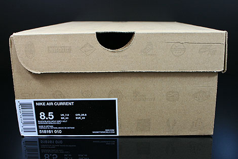 Nike Air Current Black Wolf Grey Volt Shoebox