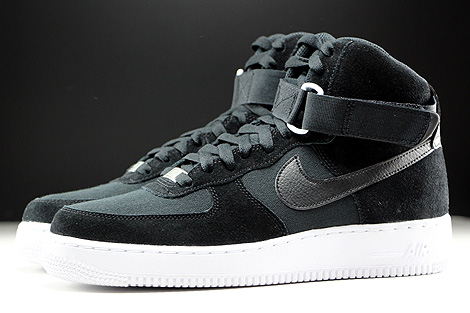 Nike Air Force 1 High Black Black White Profile