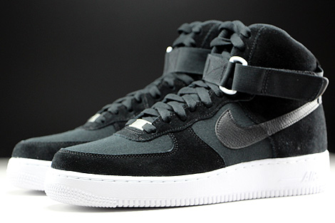 Nike Air Force 1 Black And White Suede