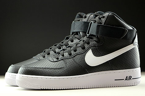 Nike Air Force 1 High Black White Profile