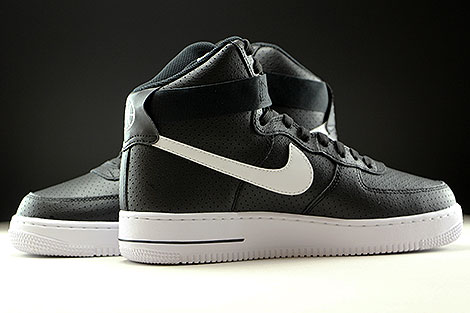 Nike Air Force 1 High Black White Inside