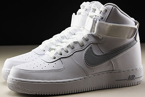 Nike Air Force 1 High White Wolf Grey Profile