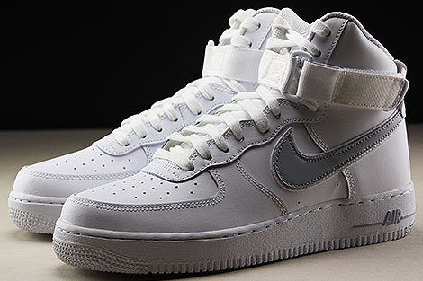 Nike Air Force 1 High White Wolf Grey Sidedetails
