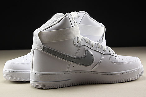 Nike Air Force 1 High White Wolf Grey Inside
