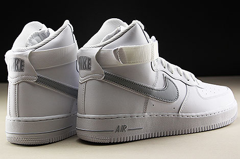 Nike Air Force 1 High White Wolf Grey Back view