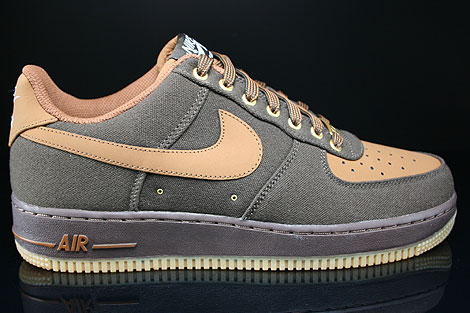 Nike Air Force 1 Low Dunkelbraun Braun Beige Rechts