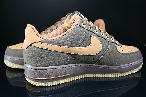 Nike Air Force 1 Low Dunkelbraun Braun Beige Innenseite