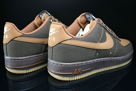 Nike Air Force 1 Low Dunkelbraun Braun Beige Rueckansicht
