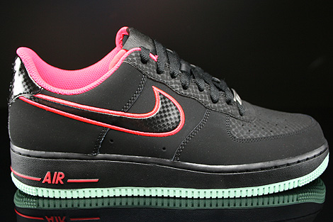 Nike Air Force 1 Low Black Laser Crimson Arctic Green