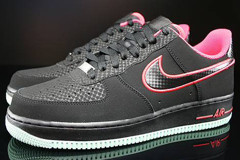 Nike Air Force 1 Low Black Laser Crimson Arctic Green Profile