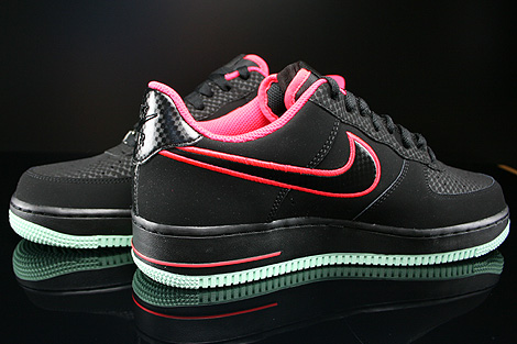 Nike Air Force 1 Low Black Laser Crimson Arctic Green Inside