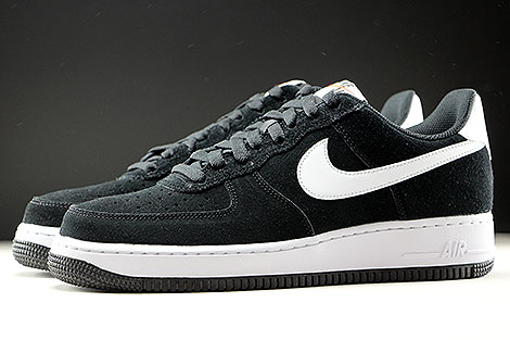 Nike Air Force 1 Low Black White Black Profile