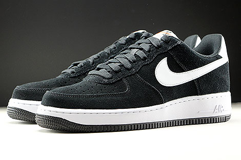Nike Air Force 1 Low Black White Black Sidedetails