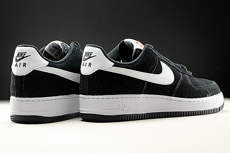 Nike Air Force 1 Low Black White Black Back view
