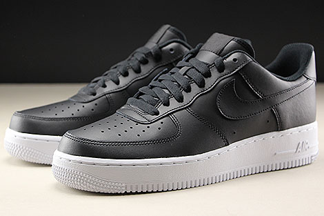 Nike Air Force 1 Low Black White Sidedetails