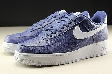 Nike Air Force 1 Low Blue Recall White Sidedetails