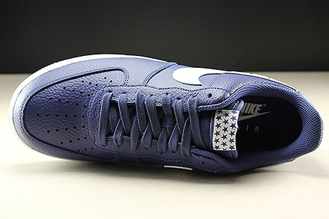 Nike Air Force 1 Low Dunkelblau Weiss Oberschuh