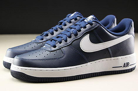 Nike Air Force 1 Low Midnight Navy White Seitenansicht