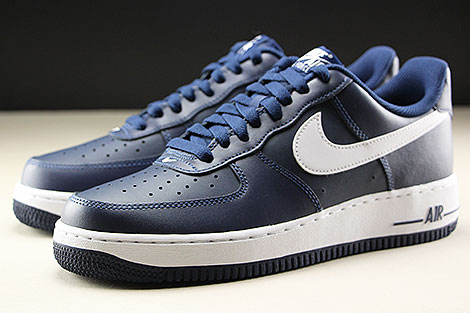 Nike Air Force 1 Low Midnight Navy White Seitendetail