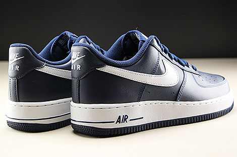 Nike Air Force 1 Low Midnight Navy White Back view