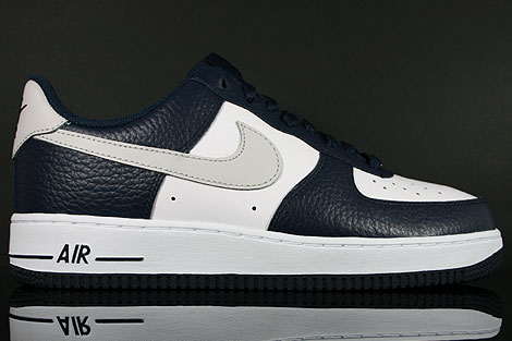 Nike Air Force 1 Low Dunkelblau Hellgrau Weiss