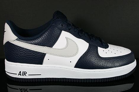 Nike Air Force 1 Low Dunkelblau Hellgrau Weiss Seitenansicht