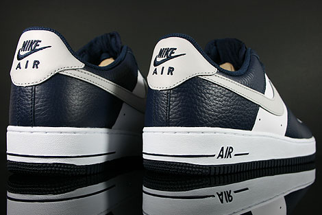 Nike Air Force 1 Low Dunkelblau Hellgrau Weiss Oberschuh