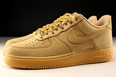 Nike Air Force 1 Low WB Hellbraun Seitenansicht