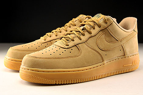 Nike Air Force 1 Low WB Hellbraun Seitendetail