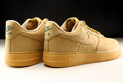 Nike Air Force 1 Low WB Hellbraun Rueckansicht