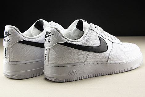 Nike Air Force 1 Low White Black Back view