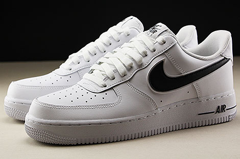 Nike Air Force 1 Low White Black Seitendetail