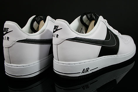 Nike Air Force 1 Low White Black White Back view