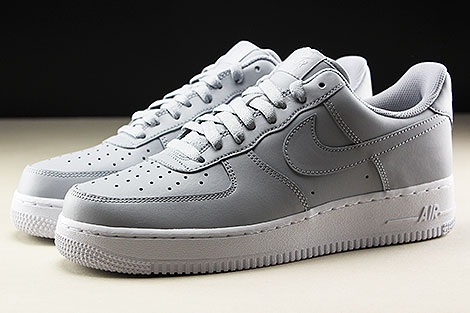 Nike Air Force 1 Low Wolf Grey White Seitenansicht