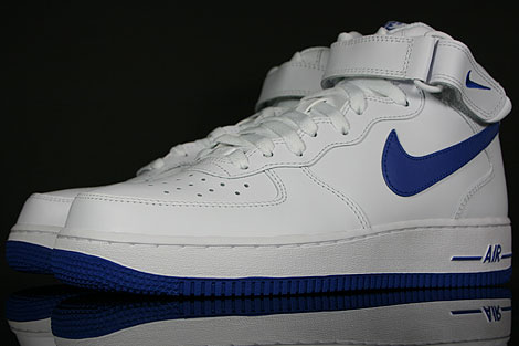 nike air force 1 mid weiss blau 315123 104 purchaze. Black Bedroom Furniture Sets. Home Design Ideas