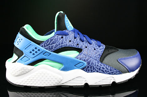 9e5b480d953c Nike Air Huarache Deep Royal Blue Hero Green Glow Black 318429-443 ...