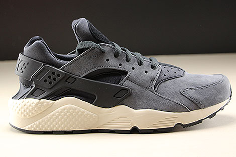 Nike Air Huarache Run Premium Anthracite Black Light Bone Right
