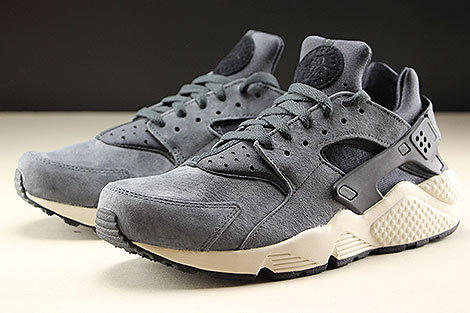 Nike Air Huarache Run Premium Anthracite Black Light Bone Sidedetails