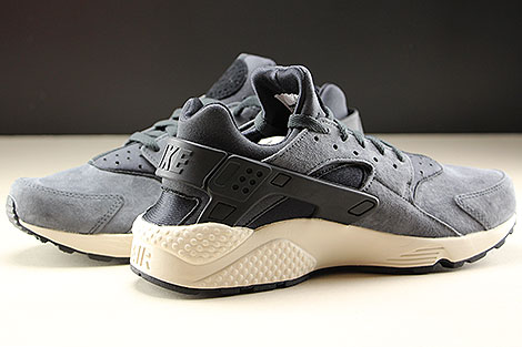 Nike Air Huarache Run Premium Anthracite Black Light Bone Inside