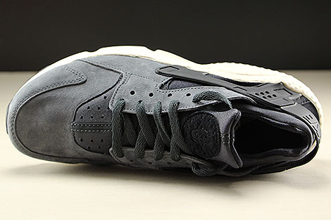 Nike Air Huarache Run Premium Anthracite Black Light Bone Over view