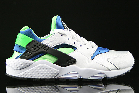 35486eb7ed79a7 Nike Air Huarache White Scream Green Royal Blue Black 318429-100 ...