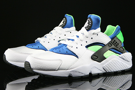 nike air huarache blue and white