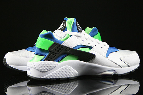 Nike Air Huarache White Scream Green Royal Blue Black Inside