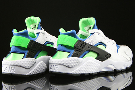 Nike Huarache Green And Blue