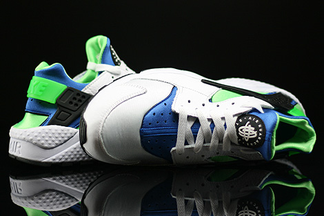 Nike Air Huarache White Scream Green Royal Blue Black Over view